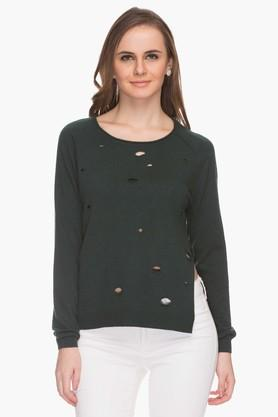 ONLY Womens Cut-out Embellished Pullover