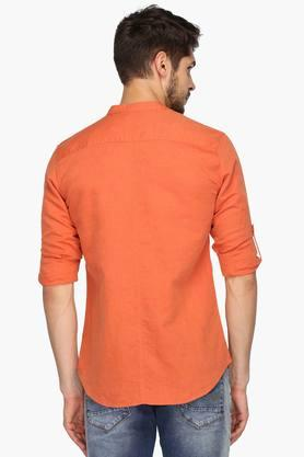 Mens Regular Collar Linen Shirt