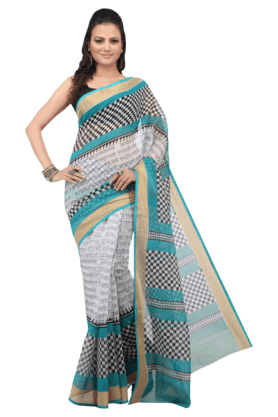 JASHN Womens Checks Saree