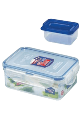 LOCK & LOCK Classics Rectangular Food Container With Sauce Case - 550ml