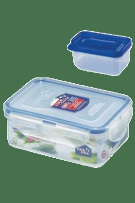 LOCK & LOCKClassics Rectangular Food Container With Sauce Case - 550ml