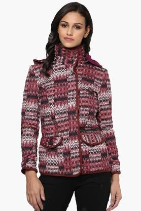 THE VANCA Womens Printed Hooded Jacket - 201743811