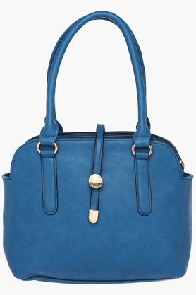 HAUTE CURRY Womens Zipper Closure Satchel