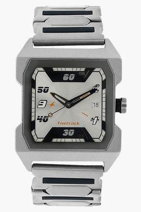 FASTRACKMens Silver Dial Stainless Steel Strap Watch