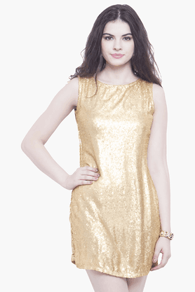 Womens Sequined Mini Dress