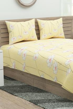 Floral Printed Bed Cover with Pillow Cover