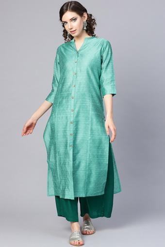 VARANGA -  Sea Green Kurtas - Main