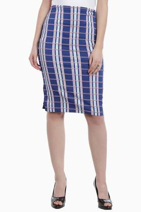 ZINK LONDON Womens Check Pencil Skirt