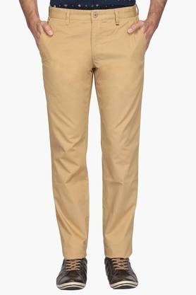 Mens Slim Fit 4 Pocket Solid Chinos (Steven Tapered Fit) - 202009666
