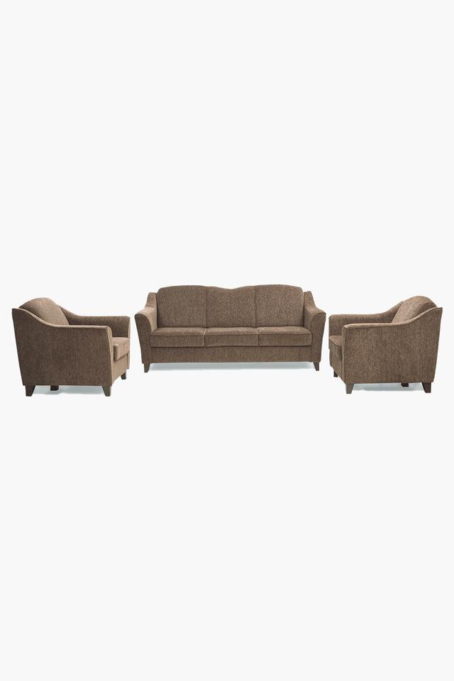 Chestnut Brown Fabric Sofa (3-1-1 Sofa Set )