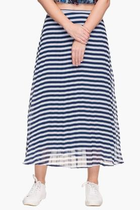 LIFE Womens Stripe Long Skirt