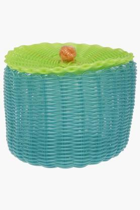 IVY Pvc Pop Round Basket With Lid - Large
