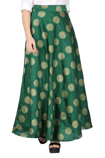 DE MOZA -  Bottle Green Skirts - Main