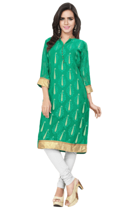DEMARCAWomens Sequins Kurta (Buy Any Demarca Product & Get A Pair Of Matching Earrings Free) - 200936954