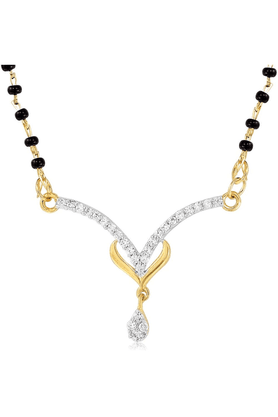 MAHIMahi Daily Wear Fashion Mangalsutra Set Of Brass Alloy With CZ For Women NL1101482G