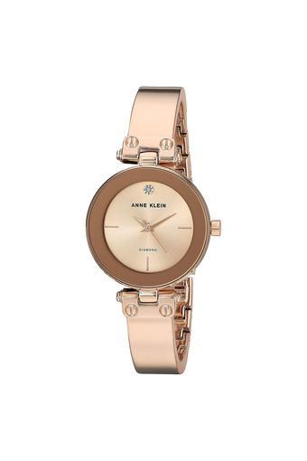 Womens Rose Gold Dial Metallic Analogue Watch - AK-3236RGRG
