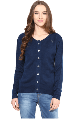 THE VANCA Women Wool Acrylic Cardigan - 200344423