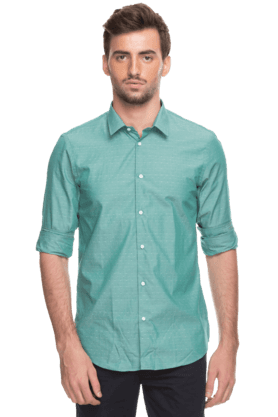 Arrow Nyc Formal Shirts (Men's) - Mens Full Sleeves Slim Fit Casual Dotted Shirt