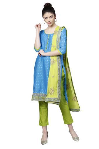 ISHIN -  BlueSalwar & Churidar Suits - Main