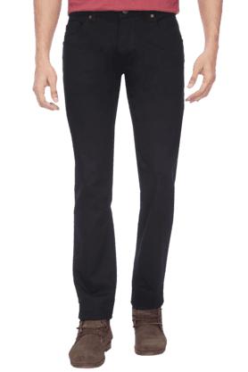 LIFE Mens Raw Black Jeans