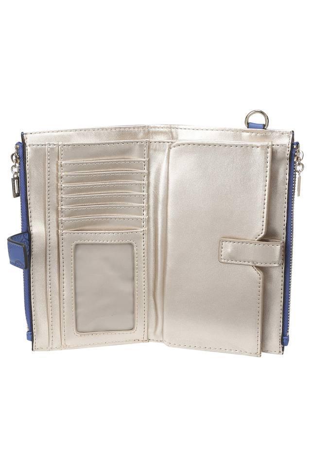 Womens Casual Wear Metallic Lock Closure Wallet