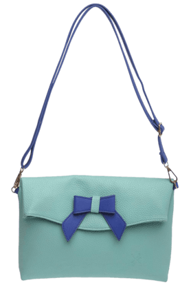 LIFE Womens Mint Rectangular Bow Sling Bag