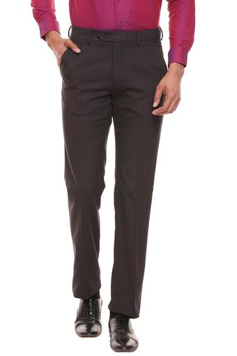 VAN HEUSEN -  Brown Formal Trousers - Main