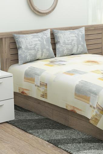 Printed King Bed Sheet with 2 Pillow Cover