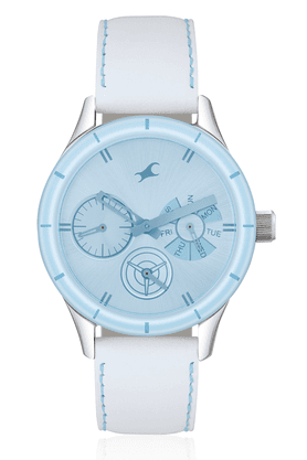 FASTRACK Ladies Watch With White Leather Strap - NE6078SL08