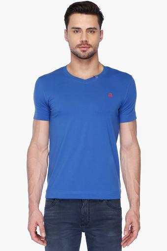 Mens Solid V Neck T-Shirt