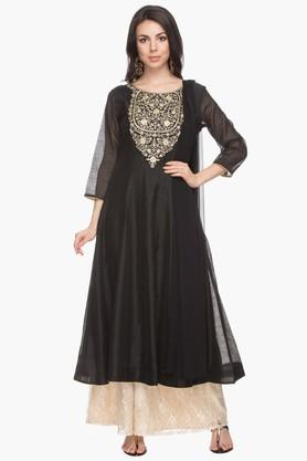 Womens Embroidered Palazzo Suit
