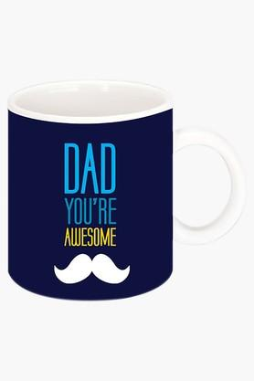 CRUDE AREA Your Awesome Dad Printed Ceramic Coffee Mug  ...
