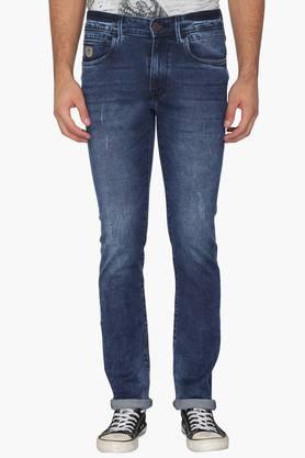 U.S. POLO ASSN. DENIM Mens Skinny Fit 5 Pocket Stone Wash Jeans  ...