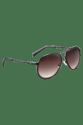 FASTRACKBrown Aviators Sunglass For Men-M141BR2