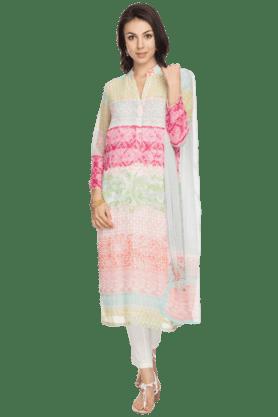 BIBAWomens Printed Salwar, Kurta And Dupatta Set - 200892247