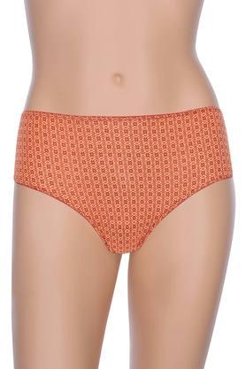 Womens Printed Stripe and Solid Hipster Briefs Pack of 5