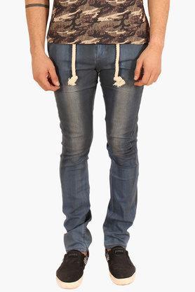 Mens Slim Fit Vintage Wash Jeans