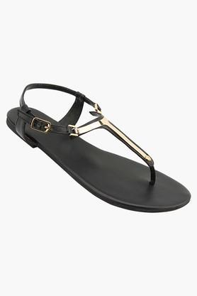 TAO PARISWomens Party Wear Ankle Buckle Closure Flat Sandals