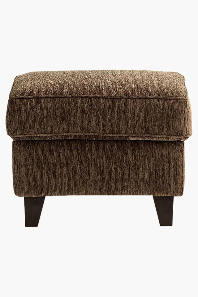 Wheat Brown Fabric Sofa (Sofa Pouf)