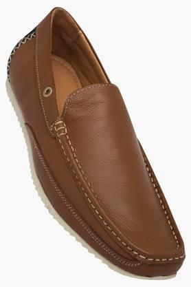 Mens Leather Slip On Loafers - 202295914
