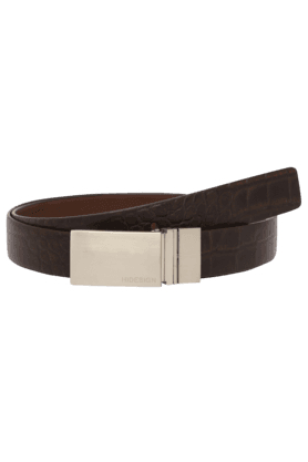 HIDESIGN Mens Robert Textured Leather Casual Belt