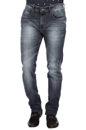 Men Basic Stonewashed Denims