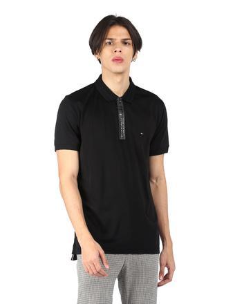 TOMMY HILFIGER -  BlackT-Shirts & Polos - Main