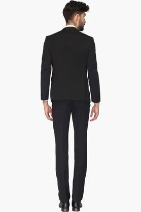 Mens Peaked Lapel Solid  Suit