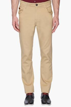WROGN Mens Slim Fit Solid Chinos