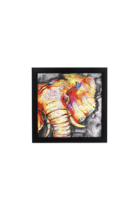 OCTAVE Printed Elephant Wall Decor With Frame - 200446635