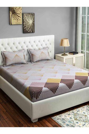 SWAYAM -  WhiteDouble Bed Sheets - Main