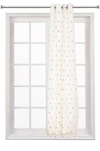 Embroidered Sheer and Blackout 2 in 1 Door Curtain
