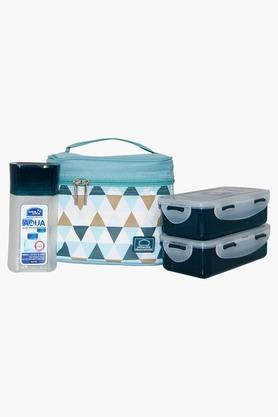 Unisex Lunch Box, Water Bottle And Printed Bag Set - 202454049