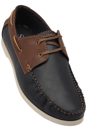 STOP Mens Leather Casual Lace Up Shoe